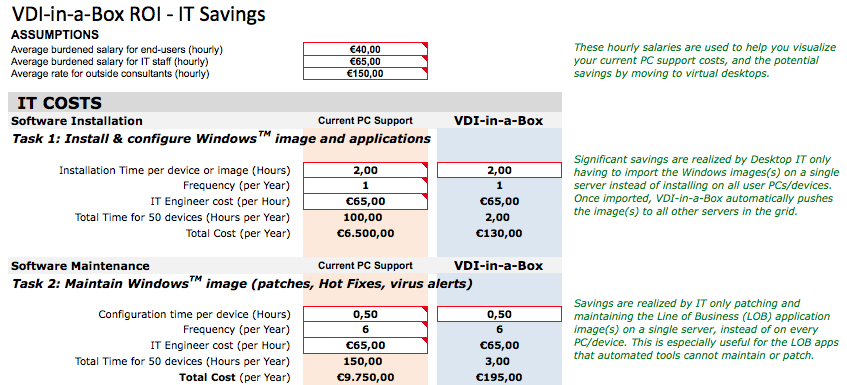 VDI-in-a-box-calculator